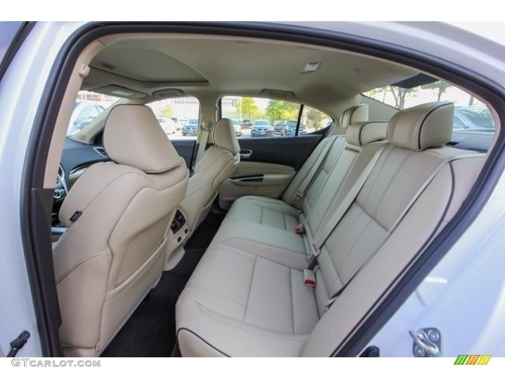 Parchment Interior 2018 Acura TLX V6 SH-AWD Advance Sedan Photo #122051354