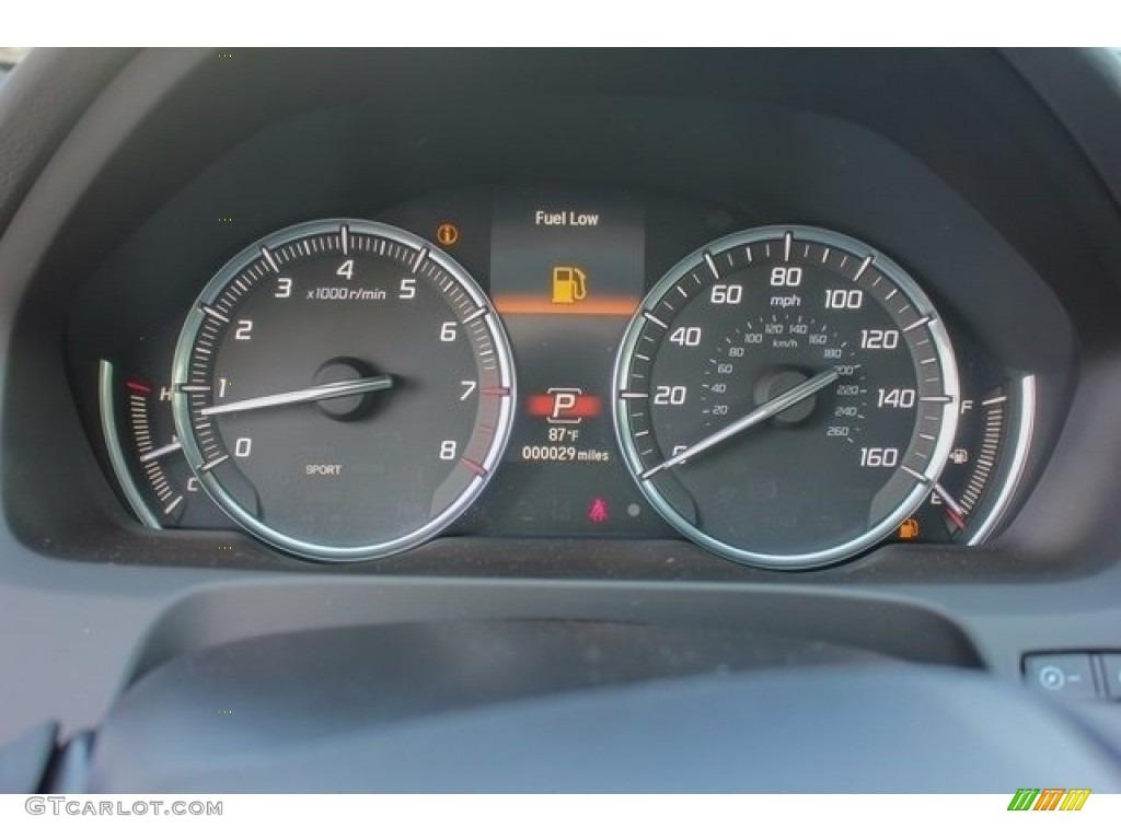 2018 Acura TLX V6 SH-AWD Advance Sedan Gauges Photos