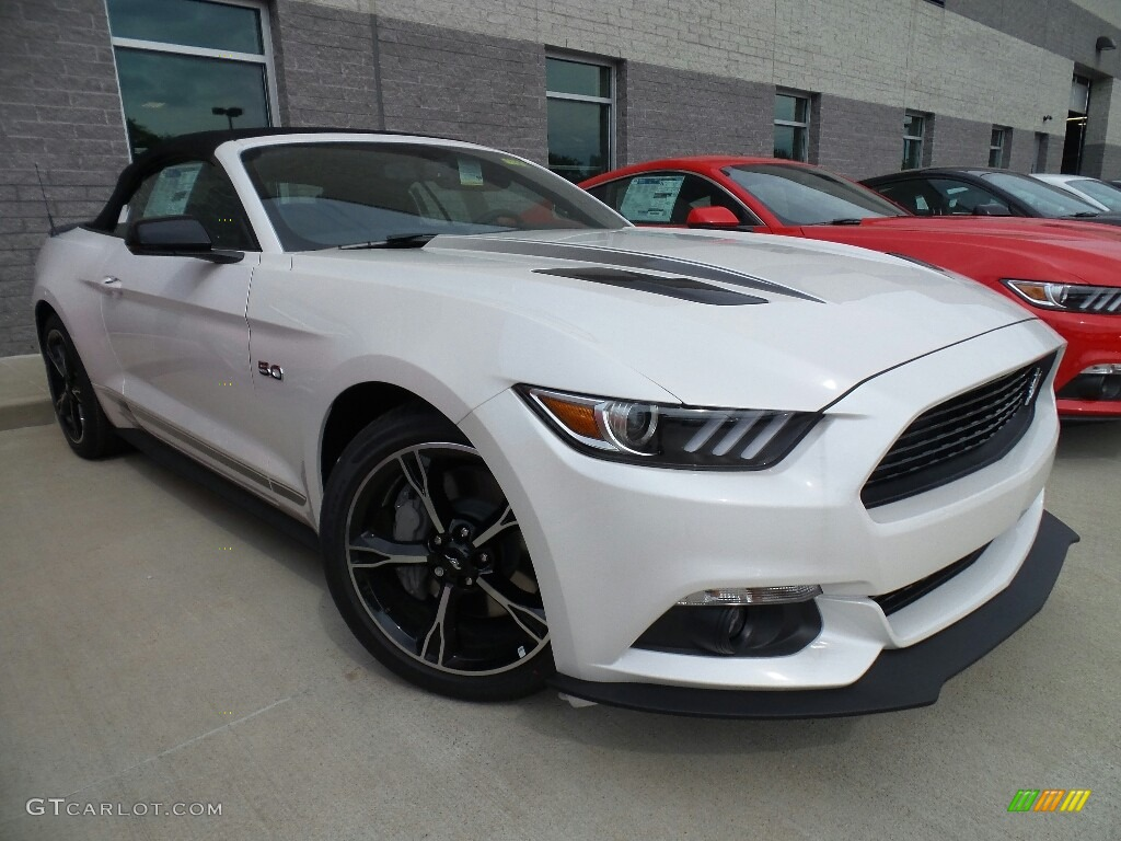 2017 Mustang Gt California Speical Convertible White Platinum Special Ebony Leather Miko