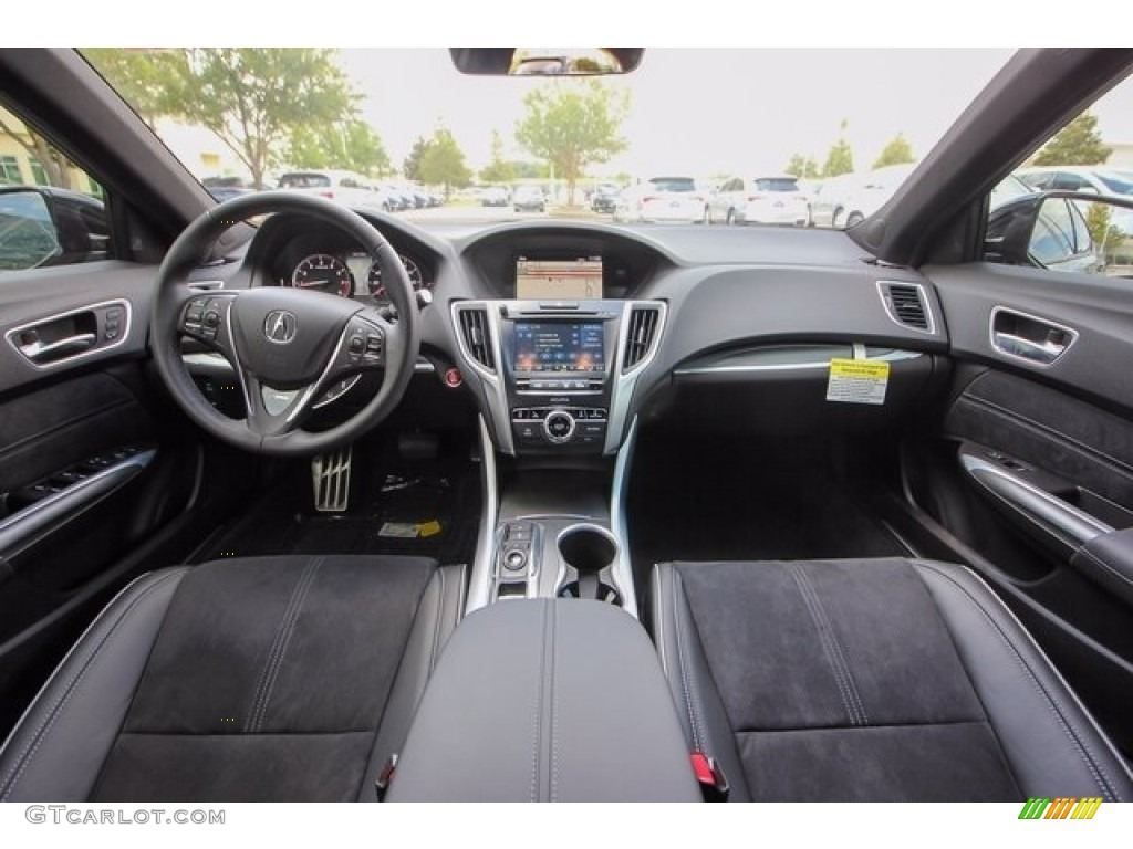 Ebony Interior 2018 Acura TLX V6 A-Spec Sedan Photo #122086505