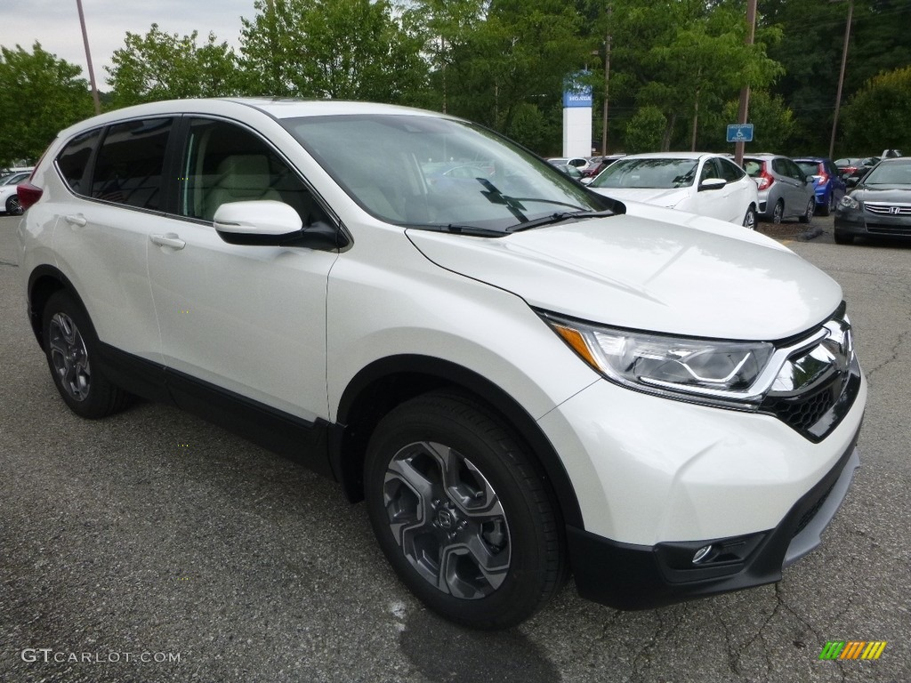 2017 CR-V EX-L AWD - White Diamond Pearl / Ivory photo #5