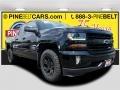 2018 Black Chevrolet Silverado 1500 LT Double Cab 4x4  photo #1