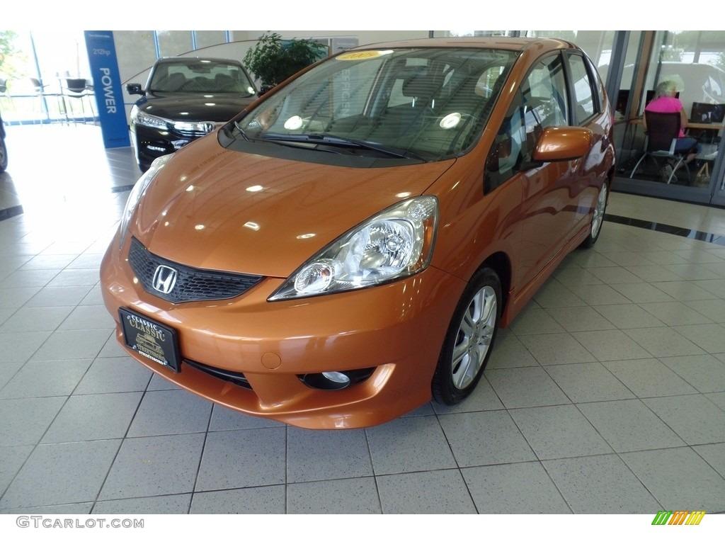 2009 orange revolution metallic honda fit sport 122174638 for Orange honda fit