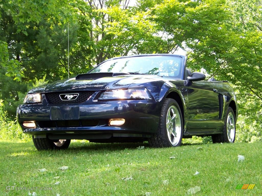 2003 true blue metallic ford mustang gt convertible 12220219 car color galleries. Black Bedroom Furniture Sets. Home Design Ideas