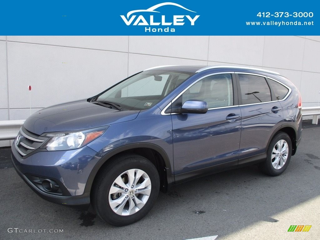 2014 CR-V EX-L AWD - Twilight Blue Metallic / Gray photo #1