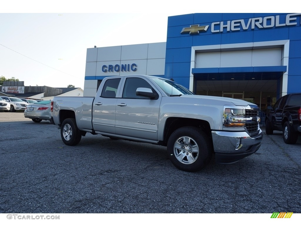2018 Silverado 1500 LT Double Cab - Silver Ice Metallic / Jet Black photo #1