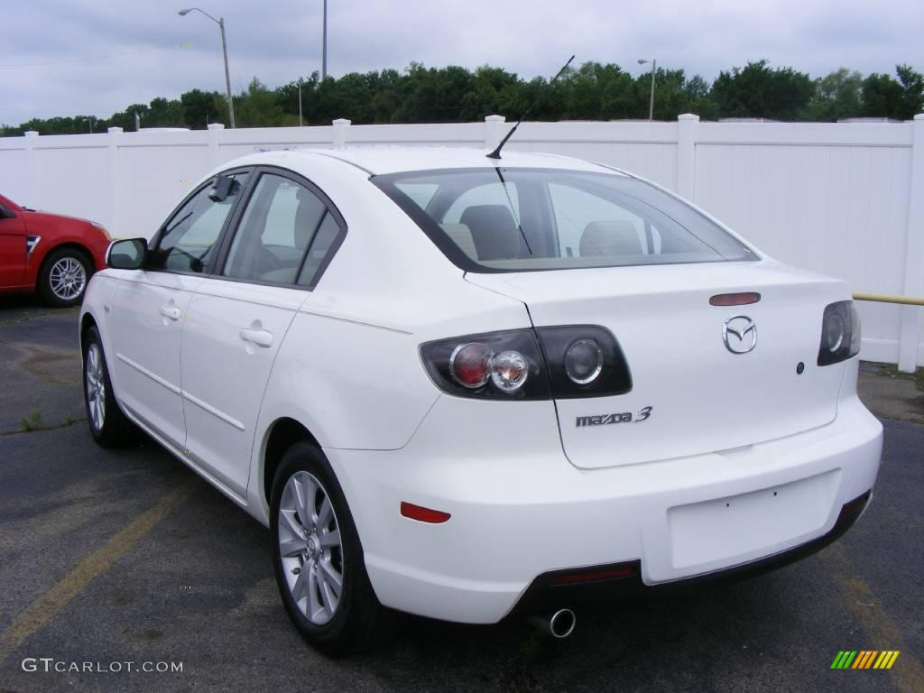 2007 rally white mazda mazda3 i sport sedan 12238432. Black Bedroom Furniture Sets. Home Design Ideas