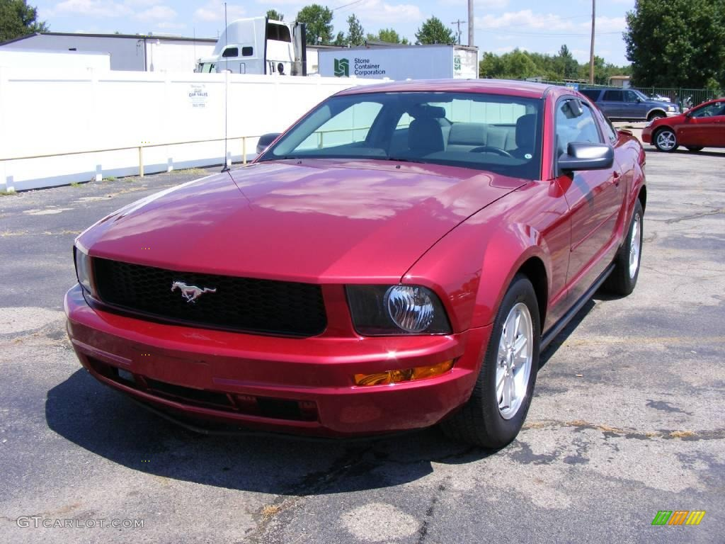 2007 Mustang V6 Premium Coupe - Redfire Metallic / Dark Charcoal photo #1