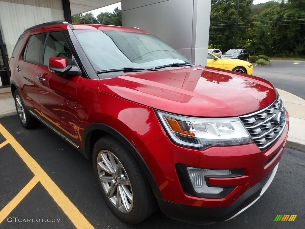 Ruby Red 2017 Ford Explorer Limited 4WD Exterior Photo #122557296