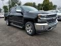 2018 Black Chevrolet Silverado 1500 LTZ Crew Cab 4x4  photo #1