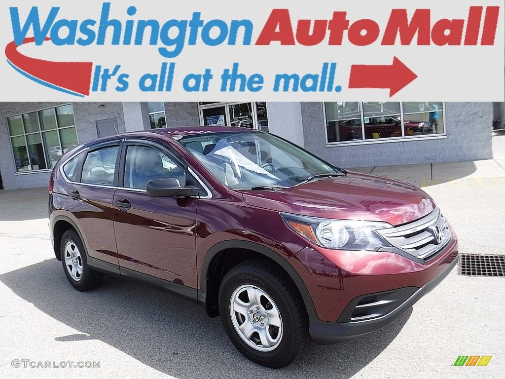 2014 CR-V LX AWD - Basque Red Pearl II / Gray photo #1