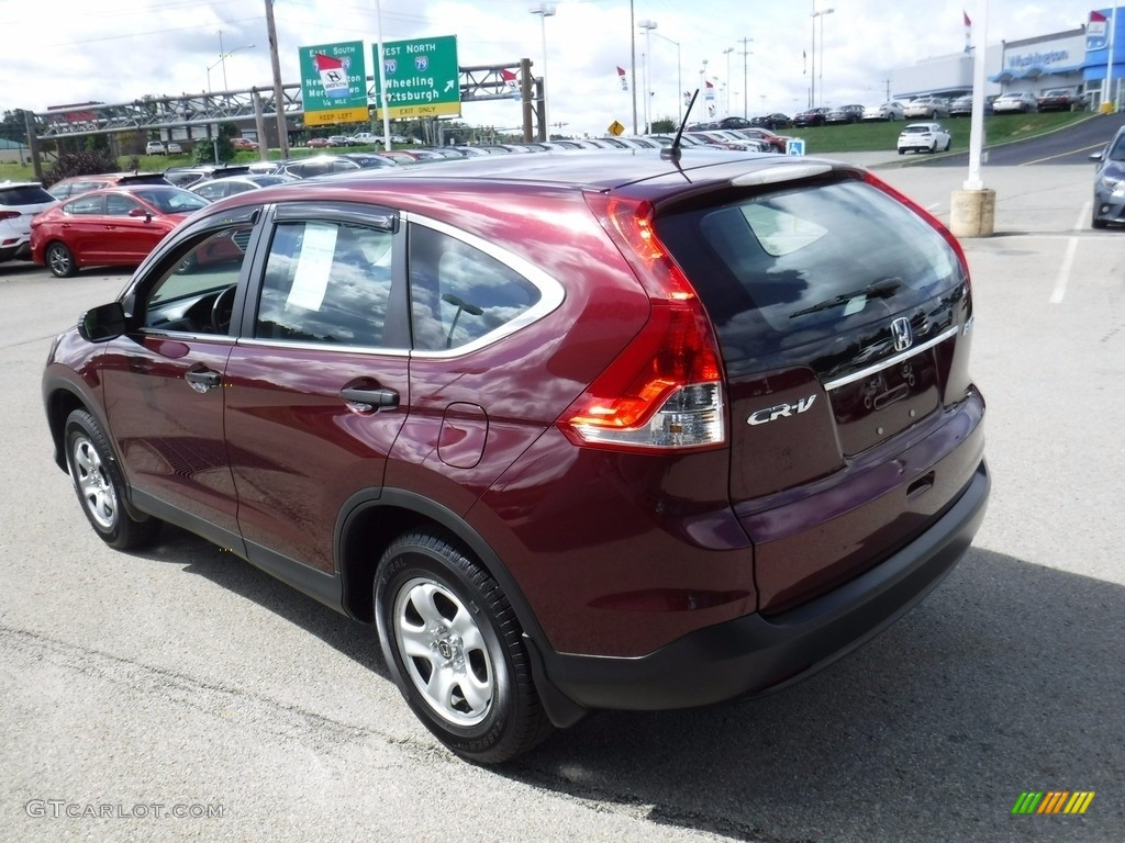 2014 CR-V LX AWD - Basque Red Pearl II / Gray photo #8