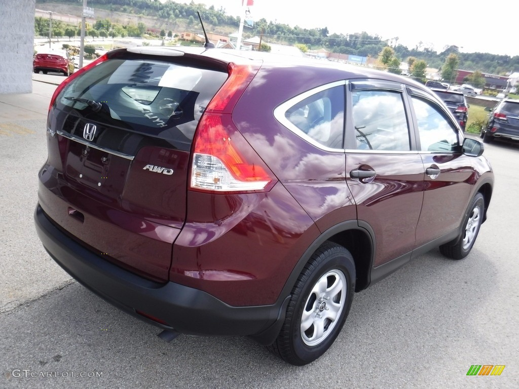 2014 CR-V LX AWD - Basque Red Pearl II / Gray photo #10