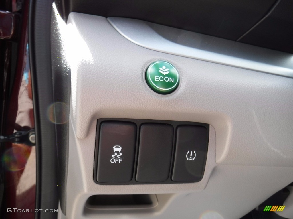 2014 CR-V LX AWD - Basque Red Pearl II / Gray photo #15