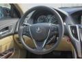 Parchment 2018 Acura TLX V6 SH-AWD Technology Sedan Steering Wheel