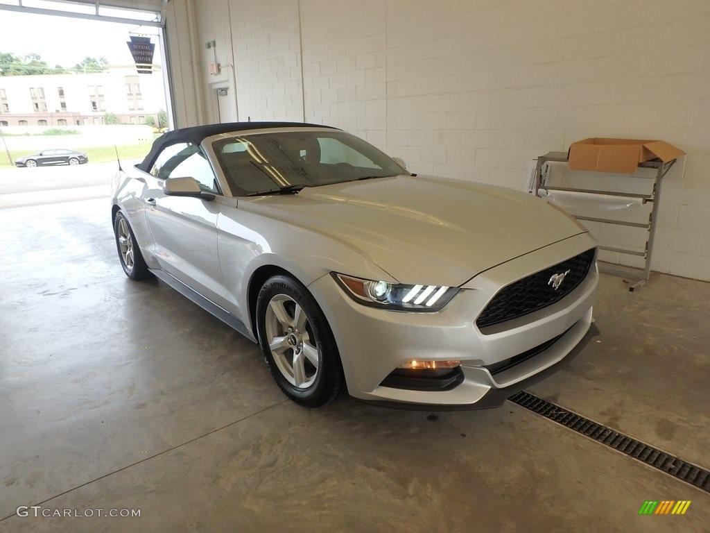 2017 Mustang V6 Convertible - Ingot Silver / Ebony photo #1