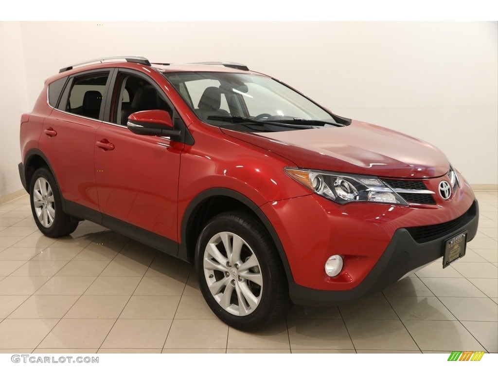 2014 barcelona red metallic toyota rav4 limited awd. Black Bedroom Furniture Sets. Home Design Ideas