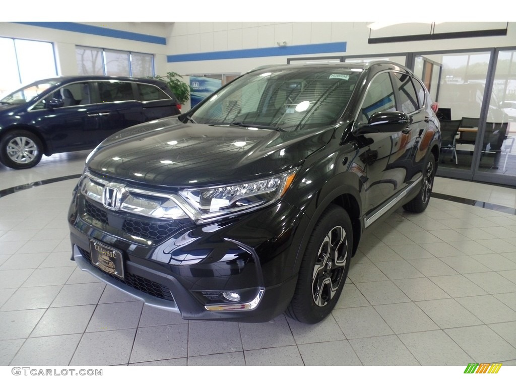 2017 CR-V Touring AWD - Crystal Black Pearl / Black photo #1