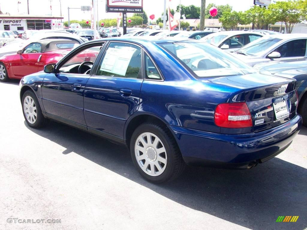 2001 pelican blue metallic audi a4 1.8t quattro sedan #12261027