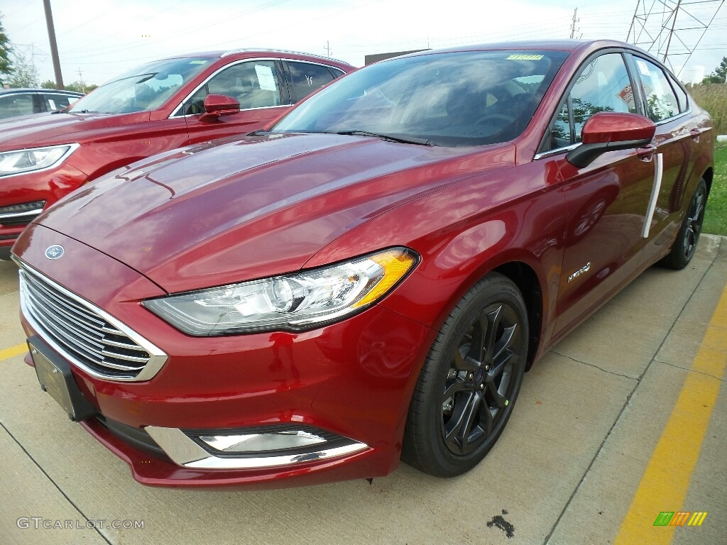 Ruby Red Ford Fusion
