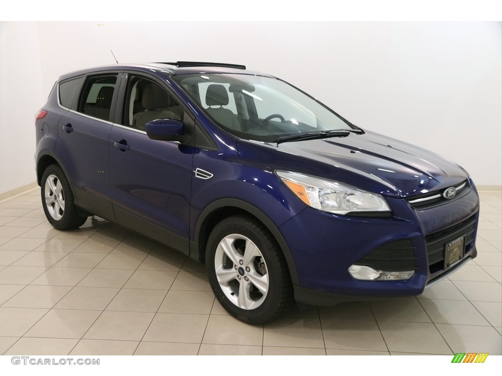 2015 Escape SE - Deep Impact Blue Metallic / Medium Light Stone photo #1