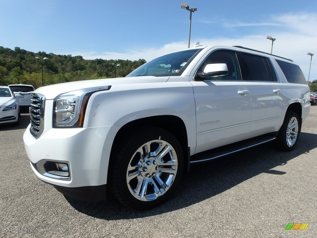 2018 White Frost Tricoat Gmc Yukon Xl Slt 4wd 122901457 Gtcarlot Com Car Color Galleries