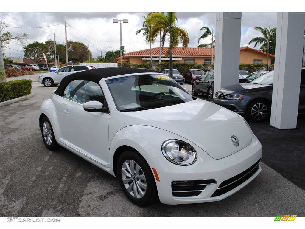 2017 pure white volkswagen beetle 1 8t s convertible. Black Bedroom Furniture Sets. Home Design Ideas