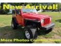 2001 Flame Red Jeep Wrangler Sport 4x4 #122940968
