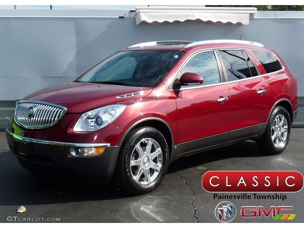 2008 Enclave CXL - Red Jewel / Ebony/Ebony photo #1
