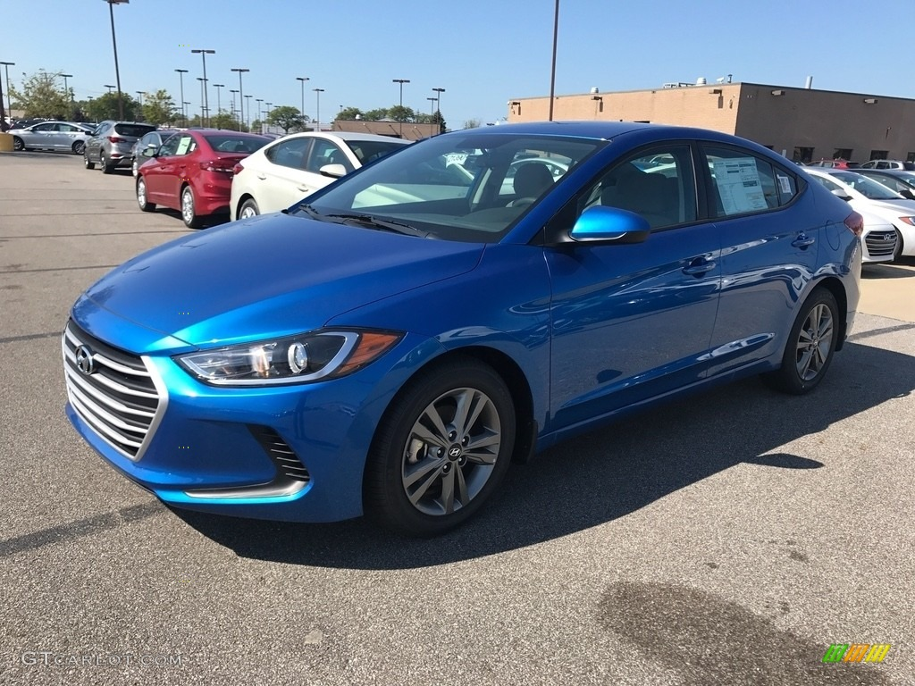 2018 Elantra Sel Electric Blue Gray Photo 1