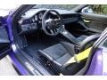 Black/GT Silver Alcantara Interior Photo for 2016 Porsche 911 #122960463