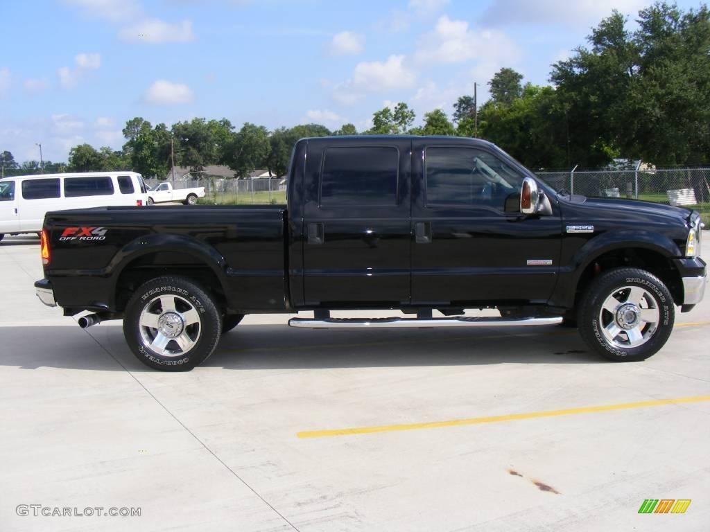 2007 black ford f250 super duty lariat crew cab 4x4 12274208 photo 2 car. Black Bedroom Furniture Sets. Home Design Ideas