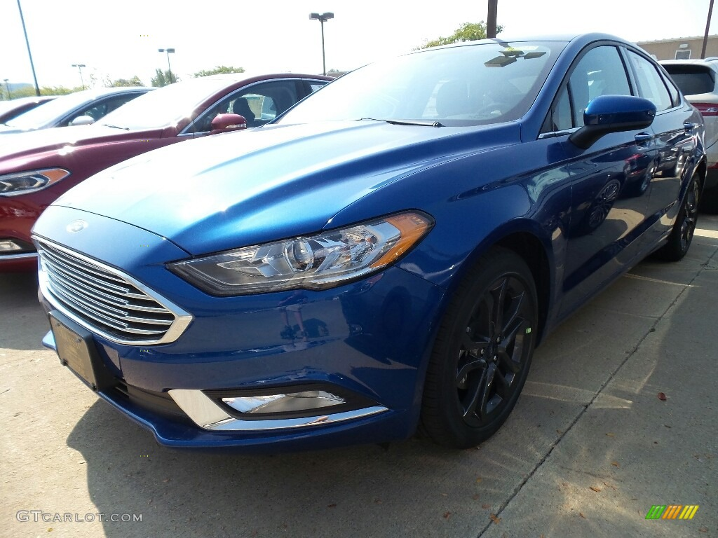 Lightning Blue Ford Fusion