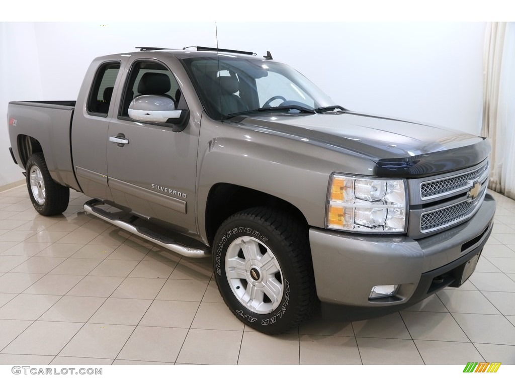 2012 Silverado 1500 LTZ Extended Cab 4x4 - Graystone Metallic / Ebony photo #1