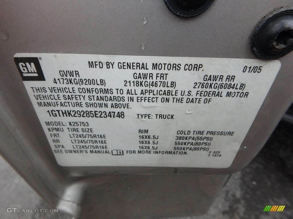 2005 Sierra 2500HD SLT Extended Cab 4x4 - Silver Birch Metallic / Dark Pewter photo #14
