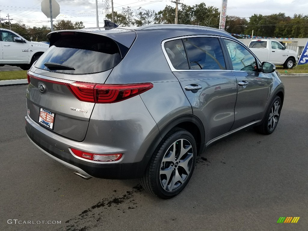 2017 Sportage SX Turbo AWD - Mineral Silver / Black photo #9