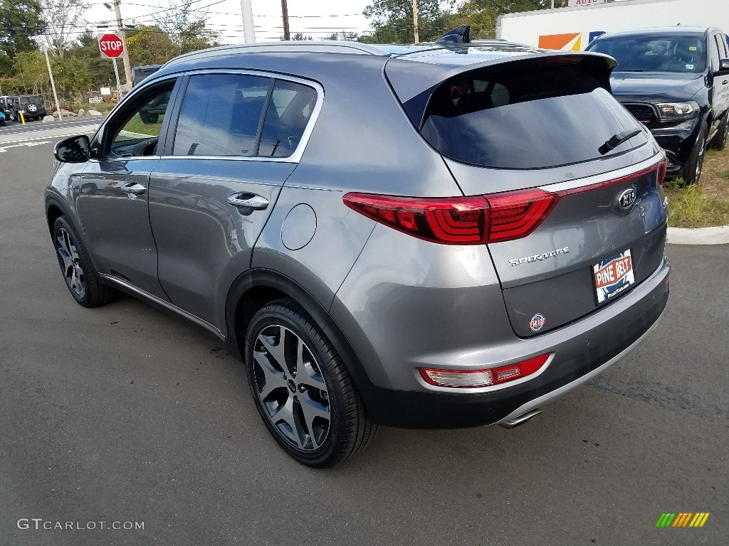 2017 Sportage SX Turbo AWD - Mineral Silver / Black photo #11