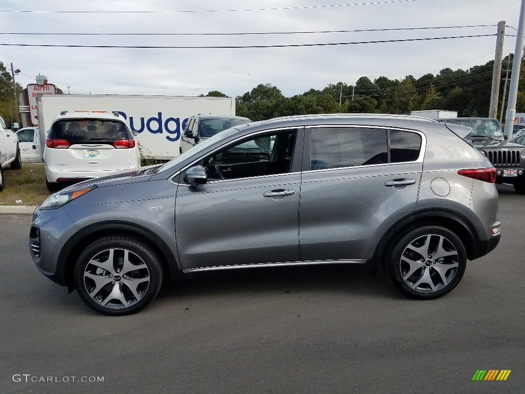 2017 Sportage SX Turbo AWD - Mineral Silver / Black photo #12