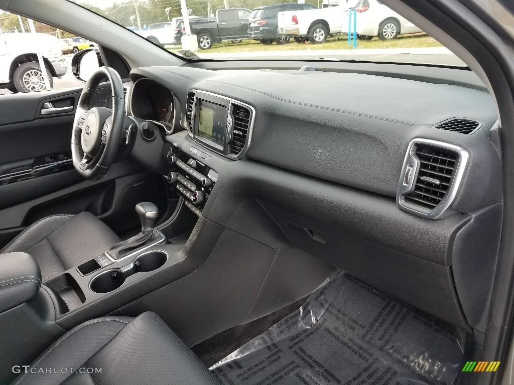 2017 Sportage SX Turbo AWD - Mineral Silver / Black photo #14