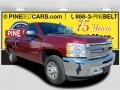 Deep Ruby Metallic 2013 Chevrolet Silverado 1500 Work Truck Regular Cab
