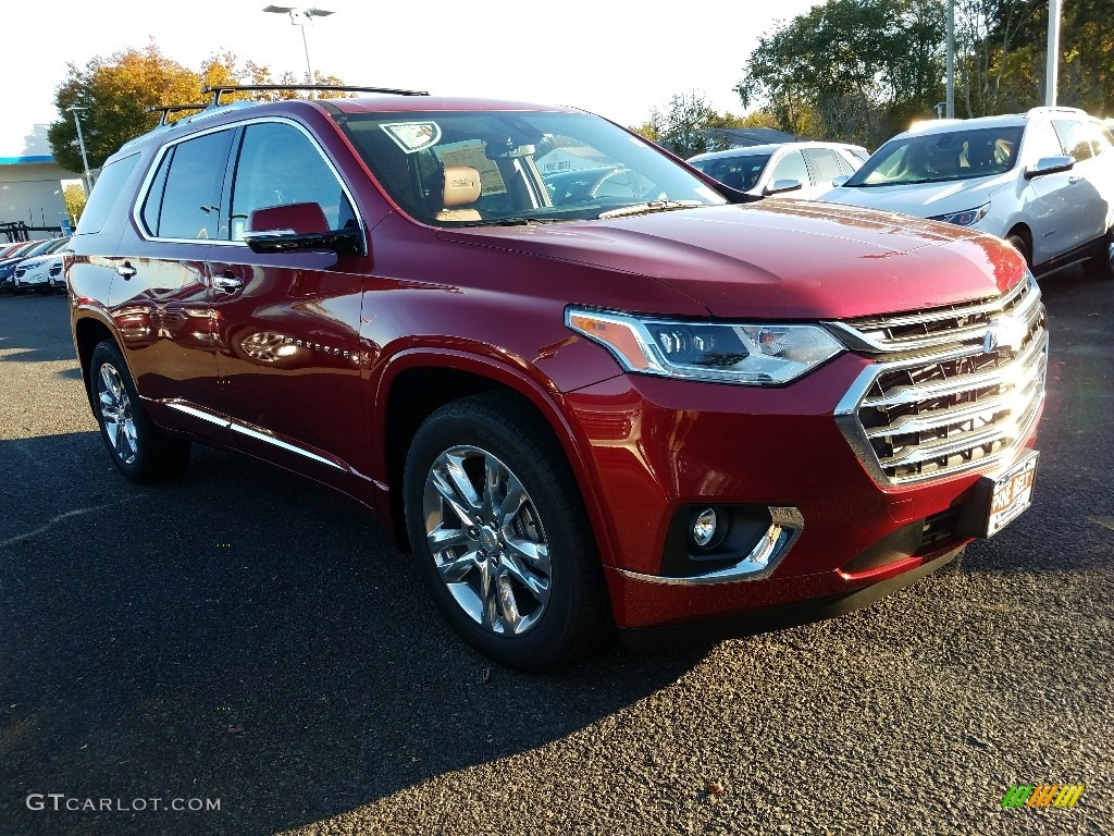 2018 Cajun Red Tintcoat Chevrolet Traverse High Country Awd