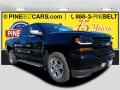 2018 Black Chevrolet Silverado 1500 Custom Crew Cab 4x4 #123389615