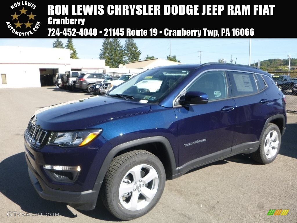 2018 Jazz Blue Pearl Jeep Compass Latitude 4x4 123389712 Gtcarlot Com Car Color Galleries