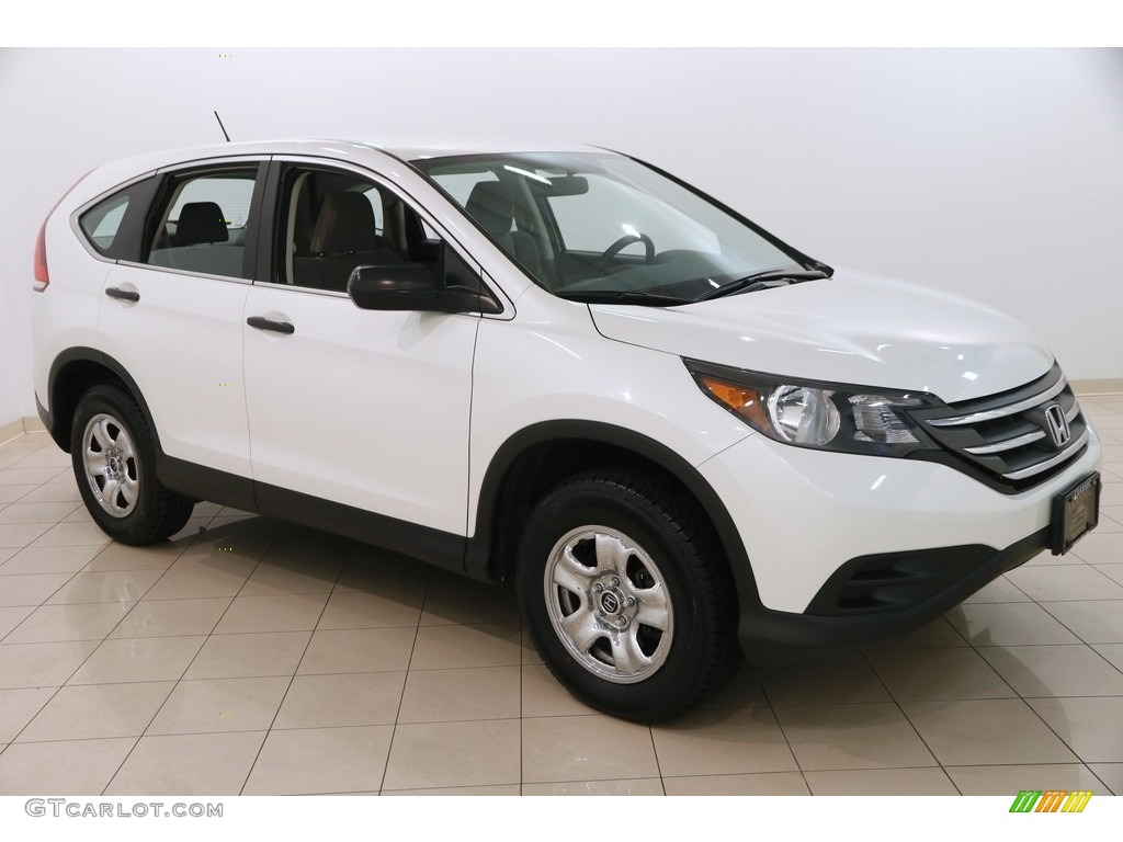 2013 CR-V LX AWD - White Diamond Pearl / Gray photo #1