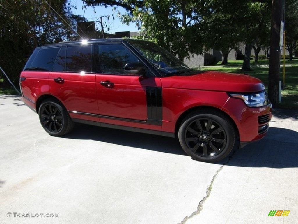 2017 Range Rover Supercharged - Firenze Red Metallic / Ebony/Ebony photo #1