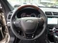 2017 Ford Explorer Ebony Black Interior Steering Wheel Photo