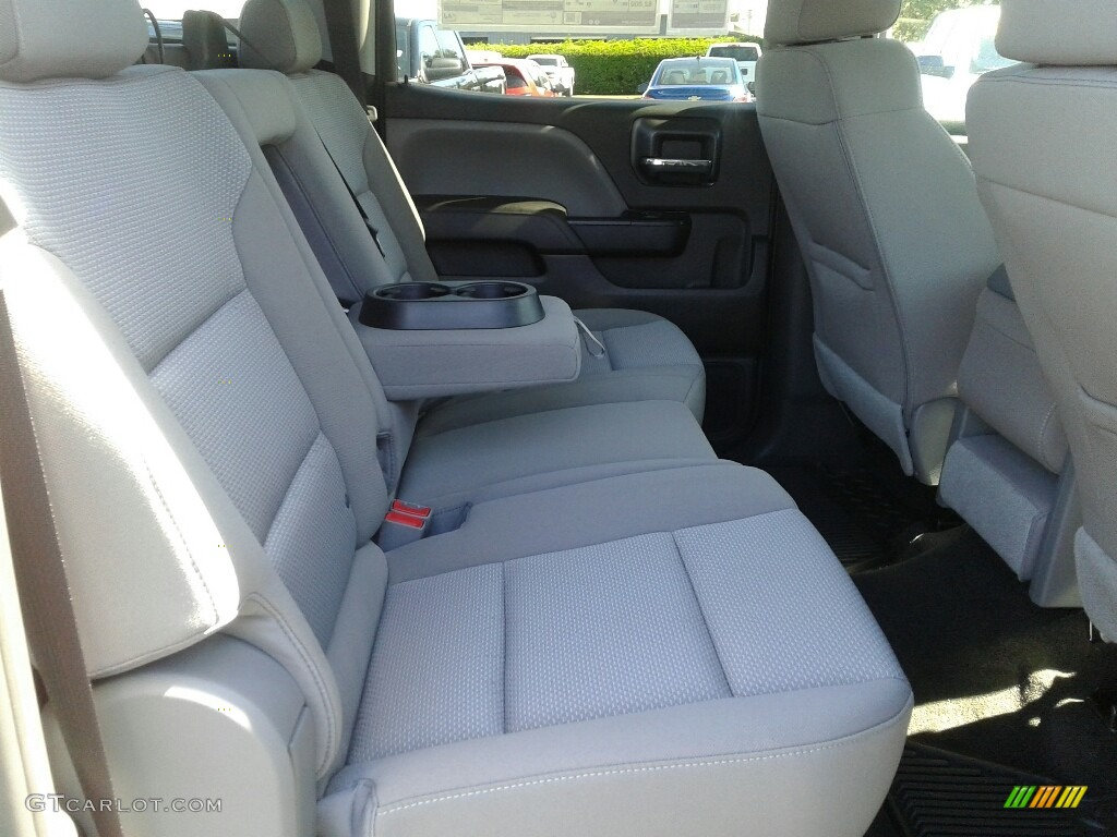 2018 Silverado 1500 Custom Crew Cab 4x4 - Silver Ice Metallic / Dark Ash/Jet Black photo #11