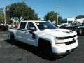 2018 Summit White Chevrolet Silverado 1500 Custom Crew Cab 4x4  photo #7