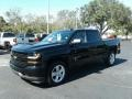 2018 Black Chevrolet Silverado 1500 Custom Crew Cab  photo #1