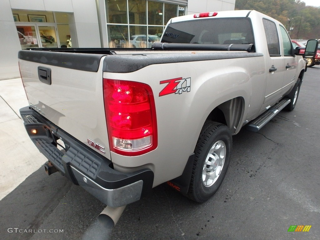2009 Sierra 2500HD SLE Crew Cab 4x4 - Silver Birch Metallic / Ebony/Light Cashmere photo #2